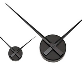 Small Sleek Black Wall Clock - Hands Only