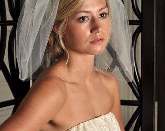 Bubble Veil, Short Bridal Veil - Ivory, Light Ivory, White, Diamond White, Champagne, Blush