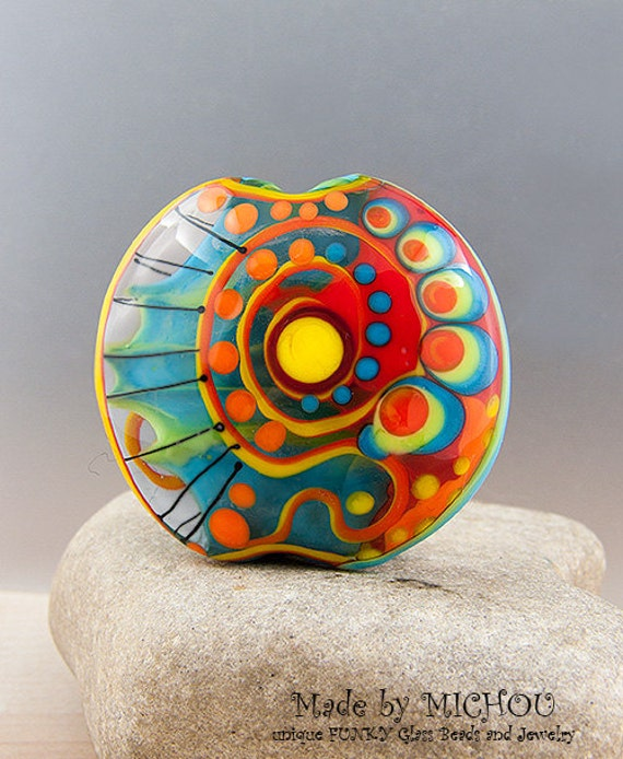 Art Glass Bead By Michou P Anderson