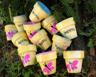 Flower Pot Favors - Kids Party Favors - Seed Planting - Garden Parties - Outdoor Kids Party