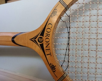 Vintage Tennis Racquet with Stretcher, Tennis Racquet