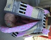 Car Seat Canopy STUNNING custom patchwork