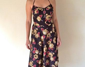 1960s Cotton Sundress Sm