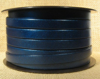 10mm Flat Leather - Metallic Denim - 10F-17M - Choose Your Length