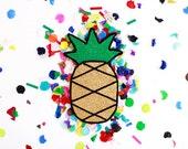 Glitter Pineapple Patch Applique