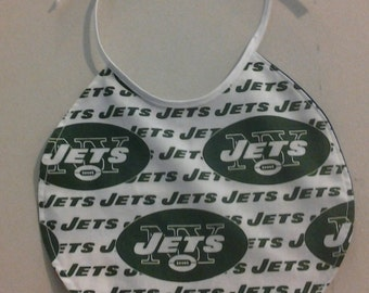 Reversible Infant Bib New York Jets on one side and New York Giants on the other 243686