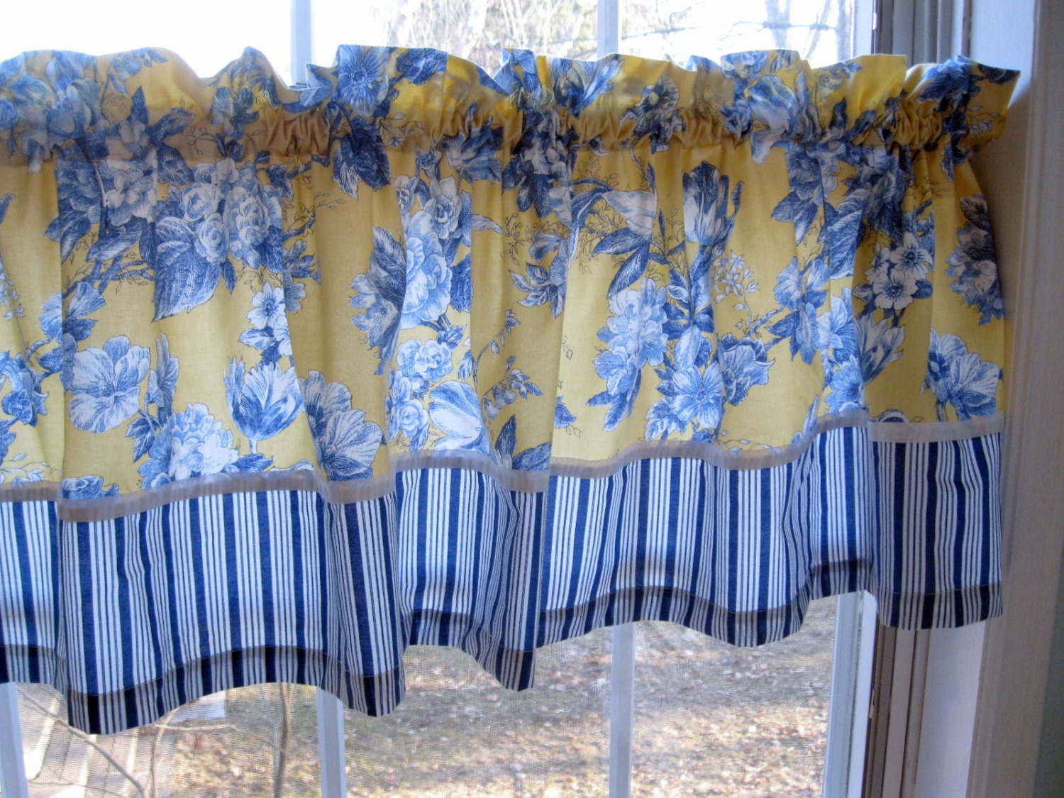 french country kitchen curtains curtain country valance window treatment blue and 3606