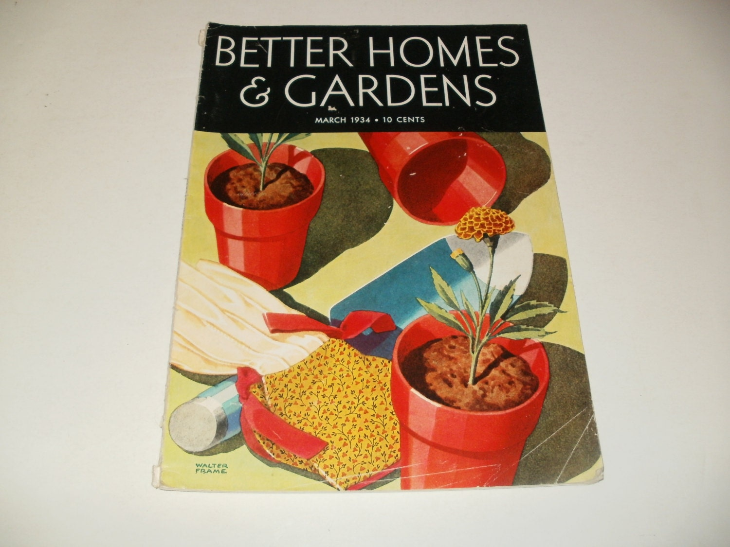 Vintage better homes and gardens magazine march 1934 spring Better homes and gardens march