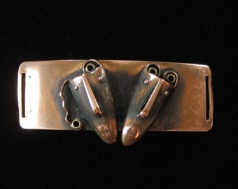 Rebajes Tribal Mask Belt Buckle