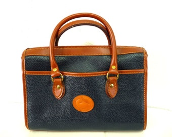 Dooney and Bourke Satchel bag Navy All Weather Vintage Doctor bag
