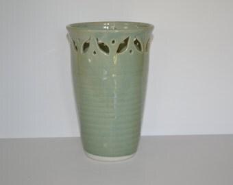 Green celadon vase.