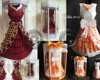 Elegant 3D Dress & Box