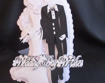 Wedding Day Wishes Bride & Groom Card