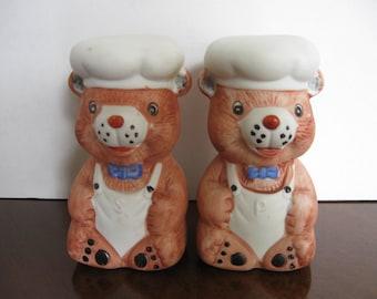 Baker Teddy Bears Salt and Pepper Shakers