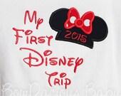 My First Disney Trip Shirt, 1st Disney Trip, Custom Disney Shirt, Any Year, Custom Colors, Personalized Disney Trip Shirt