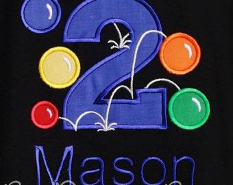 Bouncy Ball Birthday Shirt, Bouncy Ball Shirt, Custom Boys Birthday Shirt, Any Age, Ball Birthday Shirt