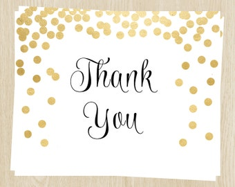 Bridal Shower Thank You Cards, Gold, Champagne, Wedding, White, Set of 24 Folding Notes, FREE Shipping, BRABY, Brunch and Bubbly