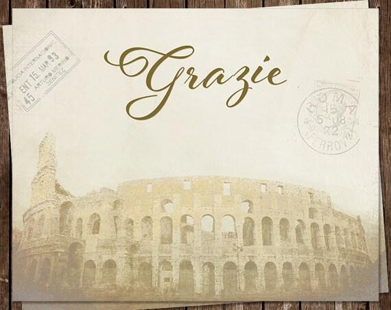 carte de remerciement en italien