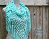 Crochet Pattern Summer Lattice Shawl Pattern, Triangle Scarf Pattern PDF