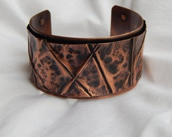 Fold Formed Copper Cuff