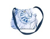 Anchor Purse, nautical bag, Beach Lover Gift, Denim Shoulder Bag, Small Shoulder Bag, Ships Wheel tote, Handmade bag, caroljoyfashions77