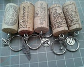 Wine cork keychain SALE