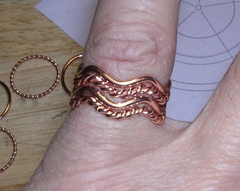 Subtle Wavy Rings Collection