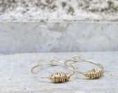 Small Gold Hoops, Hammered Gold Hoop Earrings, Handmade Gold Hoop, Wire Wrapped Earrings, Gold Earrings, Gold Hoops Earrings