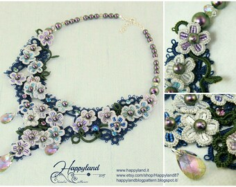 Hydrangea , tatted necklace pattern