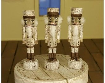 Doll House Miniature - Antique White Nutcracker