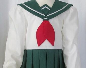 Child's Kagome Higurashi InuYasha Costume Cosplay Costume Size Girls 2 3 4 5 6 7 8 9 10 11 12