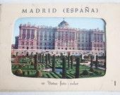 Madrid, Spain, Souvenir Postcard Set, Color Postcards, Mayoro Square, Royal Palace, Travel Souvenir
