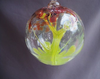 Hand Blown Art Glass Witch Ball/Ornament/Suncatcher