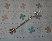 5pcs Antique Silver Patterned Hair Stick Metal Hair Stick Curved Hair Stick Christmas Gift
