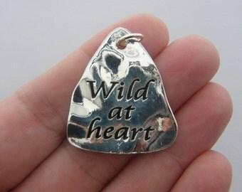 1 Wild at heart pendant antique silver tone M265