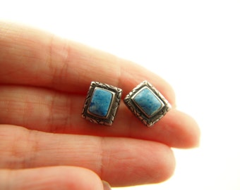 Lapis Earrings - Sterling Silver - Vintage