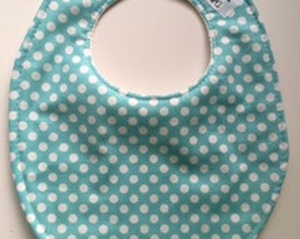 Aqua Blue Polka Dot Baby Bib 238892732