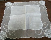 Gift for Bride - Vintage Lace Handkerchief