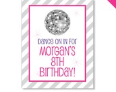 Disco Party - Personalized DIY printable sign