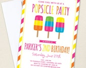 Popsicle Party Invitations - Professionally printed *or* DIY printable
