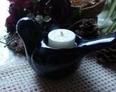 Caribbean Blue Bird Tea Light Holder