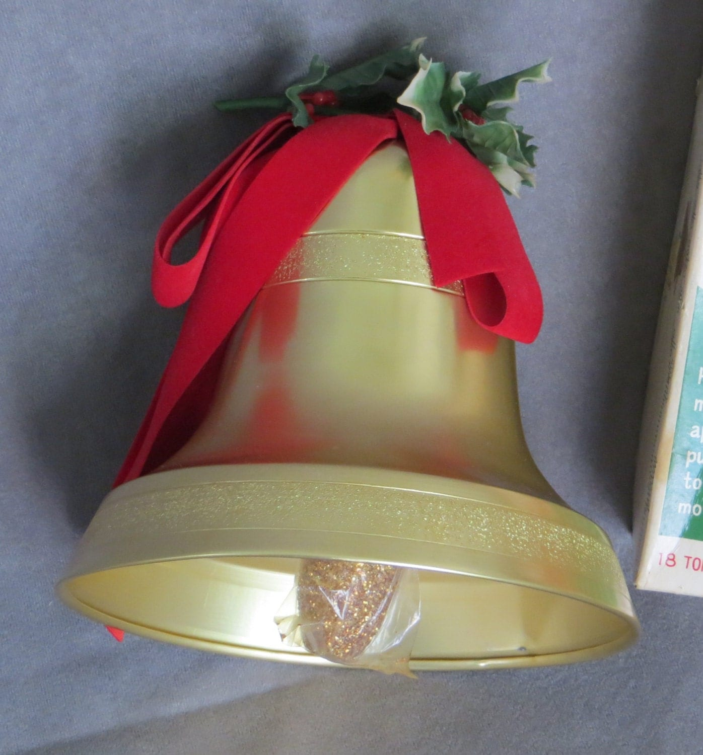 Vintage Musical Christmas Bell From Woolworths Plays Jingle