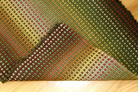 Cotton Rag Rug Shades Of Autumn 2 X 6 Handmade Kitchen Rug