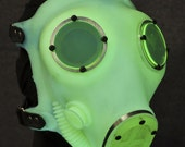Glowing Gas Mask, Fluorescent Yellow - MS151FY