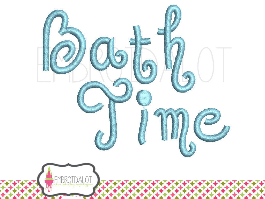 Bath embroidery design 4 x 4 bath time machine by embroidalot for Bathroom embroidery designs