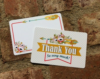 Thank you set of 4 Note Cards