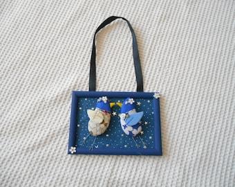 Wedding Love Birds Wall Hanging Art Engagement Anniversary