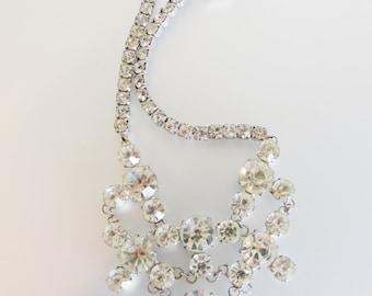 Vintage Art Deco Czech Clear Rhinestone Necklace | 1930's Czech Necklace | Clear Rhinestone Jewelry Jewellery | Jewelery Gift for Her