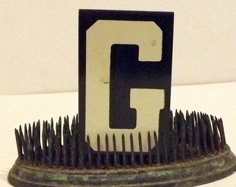 Metal Letter G Unitype Hanging Sign Black White