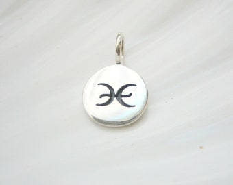 Sterling Silver Pisces Zodiac Charm - Add On - Astrological Sign
